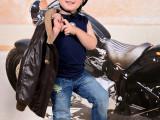 děti, fotografie, motorka
